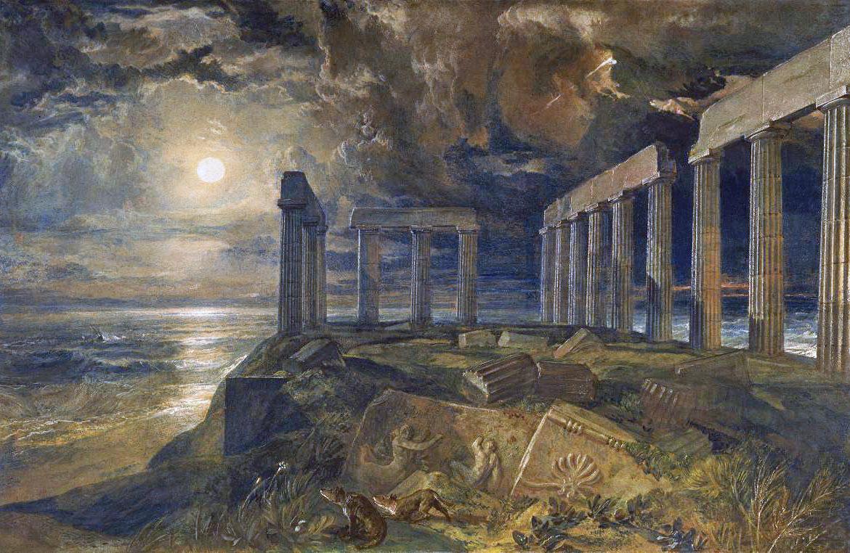 Joseph Mallord William Turner - The Temple of Poseidon at Sunium (Cape Colonna)