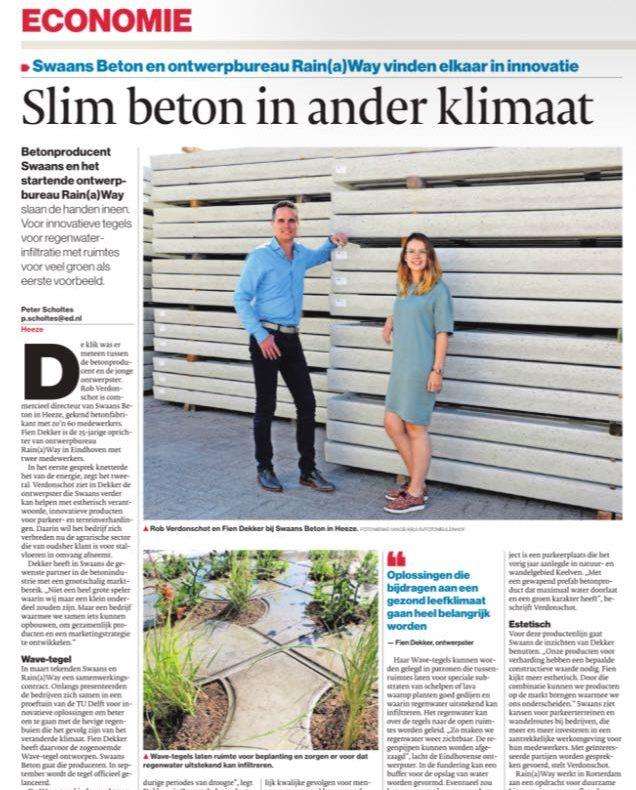swaans beton en rainaway in nrc handelblad